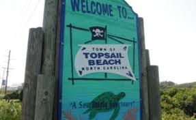 Topsail Beach welcome sign